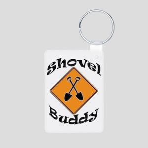 Shovel Buddy Aluminum Photo Keychain