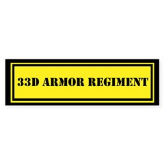 33d Armor Regiment Sticker (Bumper)