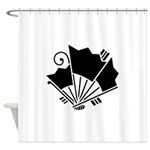 Butterfly-shaped fans Shower Curtain
