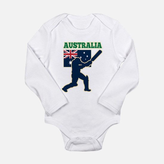Cricket Australia Long Sleeve Infant Bodysuit