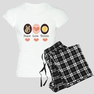 Peace Love Tennis Women's Light Pajamas