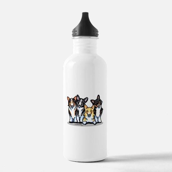 Four Corgis Water Bottle
