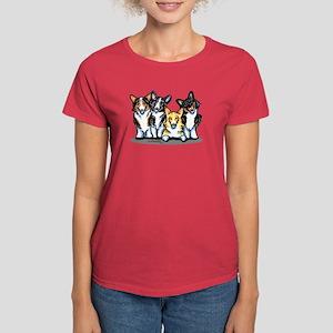 Four Corgis Women's Dark T-Shirt