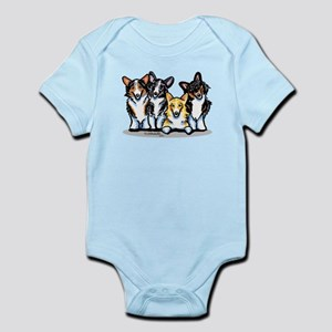 Four Corgis Infant Bodysuit