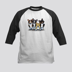 Four Corgis Kids Baseball Jersey