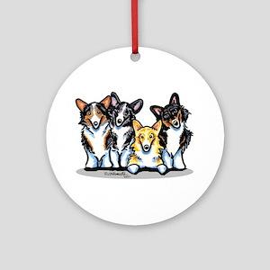Four Corgis Ornament (Round)