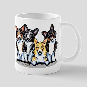 Four Corgis Mug