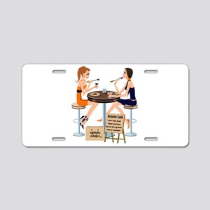 AUsome Sushi Girls Aluminum License Plate