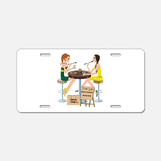 Oregon Sushi Girls Aluminum License Plate