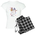 4th of July Martini Girl Women's Light Pajamas