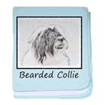 Bearded Collie baby blanket