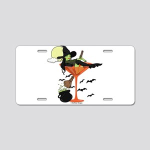Halloween Martini Girl Aluminum License Plate