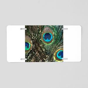 Artistic Peacock Feather Aluminum License Plate