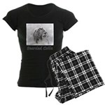 Bearded Collie Women's Dark Pajamas