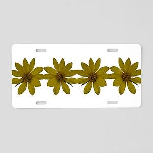 Wild Flower Aluminum License Plate