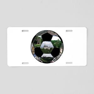 German Soccer Ball Aluminum License Plate