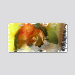 Abstract Cat Aluminum License Plate