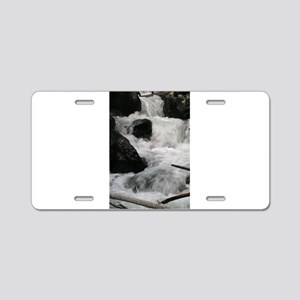 Scenic Waterfall Aluminum License Plate