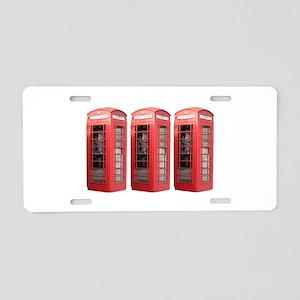 London Phonebooth Aluminum License Plate