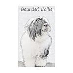 Bearded Collie Sticker (Rectangle 10 pk)