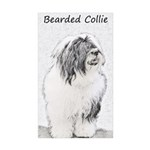Bearded Collie Sticker (Rectangle 50 pk)