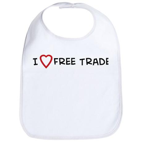 I Love Free Trade Bib