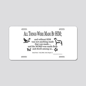 Christian Scripture Aluminum License Plate