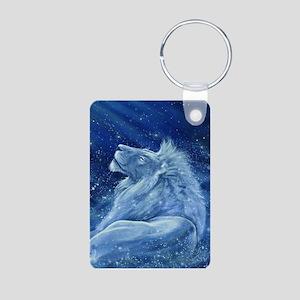 Star Lion Aluminum Photo Keychain