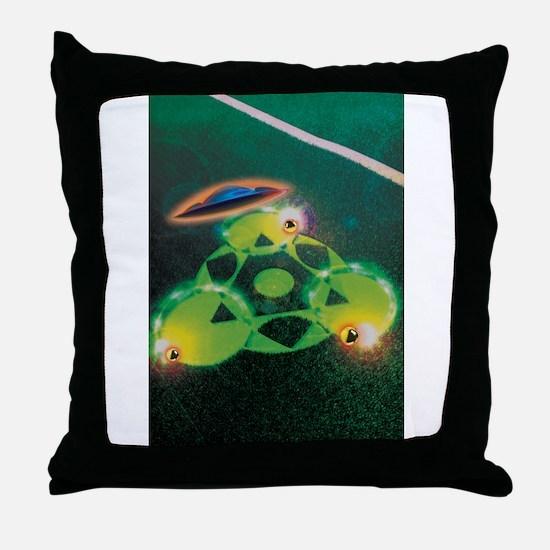 UFOs and Crop Circles Throw Pillow