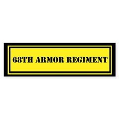 68th Armor Regiment Sticker (Bumper)
