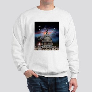 UFOs Over Wash. DC Sweatshirt