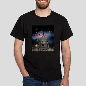 UFOs Over Wash. DC Dark T-Shirt