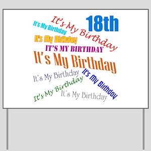 18th Birthday Yard Sign
