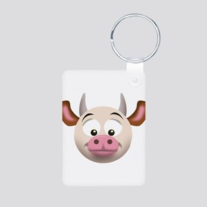 Cow Aluminum Photo Keychain