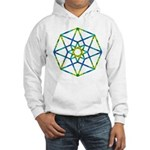 Hooded Sweatshirt - Hypercube with Hypersphere on
