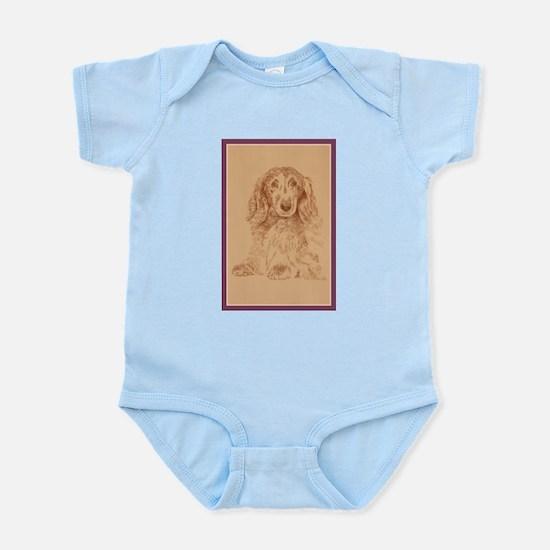 Longhaired Dachshund Infant Bodysuit