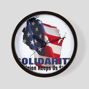 Solidarity - Union - Recall W Wall Clock