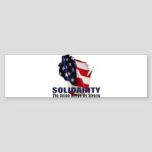 Solidarity - Union - Recall W Sticker (Bumper)