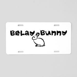 Belay Bunny Aluminum License Plate