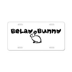 Belay Bunny Aluminum License Plate