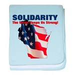 Solidarity - Union - Recall W baby blanket
