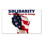 Solidarity - Union - Recall W Sticker (Rectangle 5