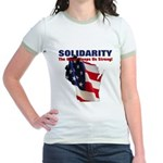 Solidarity - Union - Recall W Jr. Ringer T-Shirt