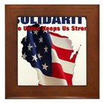 Solidarity - Union - Recall W Framed Tile