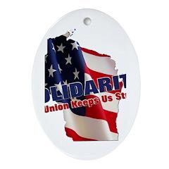 Solidarity - Union - Recall W Ornament (Oval)