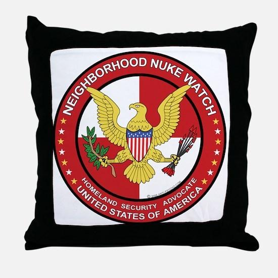 Neighborhood Nuke Watch - Throw Pillow