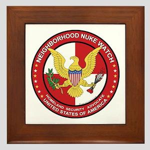 Neighborhood Nuke Watch - Framed Tile