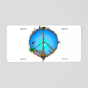 Earth Peace Aluminum License Plate