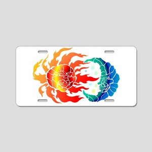 SUN & MOON Aluminum License Plate