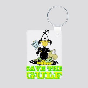 Save the GULF Aluminum Photo Keychain